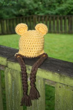 winnie the pooh hat classic winnie the pooh by SimplyCuteCrochet, $20.00