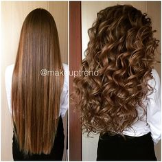 body wave perm before and after pictures Permed Hairstyles, Pretty Hairstyles, Braided Hairstyles, Curls For Long Hair, Big Hair, Body Wave Perm, Coiffure Hair, Great Hair, Hair Today