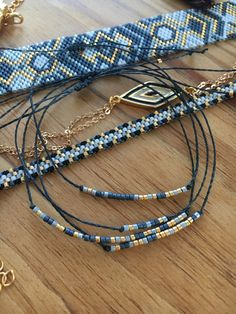 Bead Embroidery Jewelry, Beaded Embroidery, Boutique Etsy, Diy Jewelry, Jewerly, Beaded Bracelets, Boho, Beads, Crochet