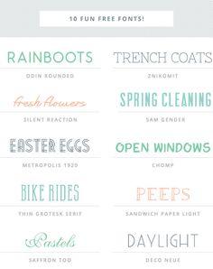 10 Fun Free Fonts