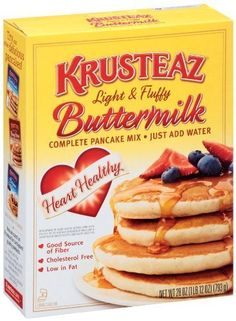 Krusteaz Light and Fluffy Complete HEART HEALTHY Buttermilk Pankcake Mix, 28 Oz. Box, (2 Pack) * Insider's special offer that you can't miss : Baking supplies