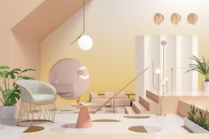 Aftersummer comes autumn, then winter and spring blooms. Loop.SEASONS is two things: the four periods turned into linked interiors, anda tribute to industrial and furniture designers from different ages.