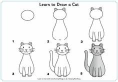How To Draw A Cat And More Simple Step By Step Instructions For