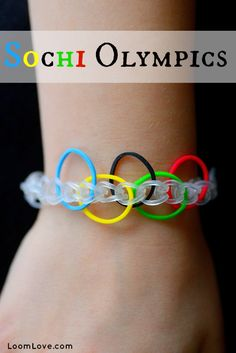 Olympics Bracelet. I think the rubber band bracelets are kinda dumb, but this is actually quite awesome!