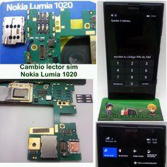 Reparación tarjetero lector sim Nokia Lumia 1020.  www.MOVILCONSOLAS.com