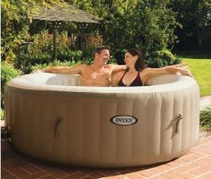 Inflatable Hot Tub Spa Portable 4 Person Therapy Jacuzzi Hydro Heated PT NEW