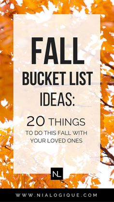 Fall Bucket List Ideas | 20 Autumn and Halloween Activties To Enjoy This Season With Your Family