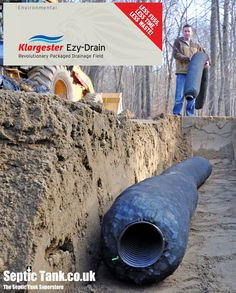 No Gravel.  Last 120 Years.  The Septic Tank Soakaway  www.septictank.co.uk