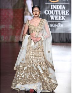 By designer Rimple & Harpreet Narula. Shop for your wedding trousseau, with a personal shopper & stylist in India - Bridelan, visit our website www.bridelan.com #Bridelan #weddinglehenga