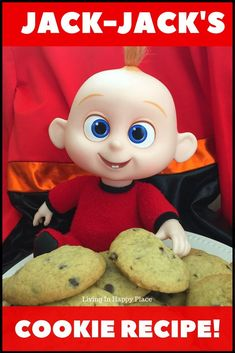 You can make Jack-Jack's favorite chocolate chip cookies from Incredibles 2! This Incredibles cookie recipe is straight from Disney and they are soft, chewy, and delicious! If your kids love Jack-Jack, Elastagirl, Violet, Dash, or Mr. Incredible himself, they will love this cookie recipe. These Incredibles cookies would be a fun Incredibles birthday party idea, movie night, or after school snack. #incredibles2 #JackJack #cookies #dessert #recipe #Incredibles #movienight #Disney #kids #movies…