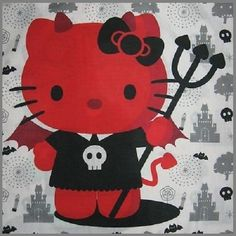 Hello Kitty Art, Hello Kitty Jewelry, Hello Kitty Tattoos, Hello Kitty My Melody, Halloween Backgrounds, Halloween Wallpaper, Hello Kitty Halloween, Bratz, Bad Cats