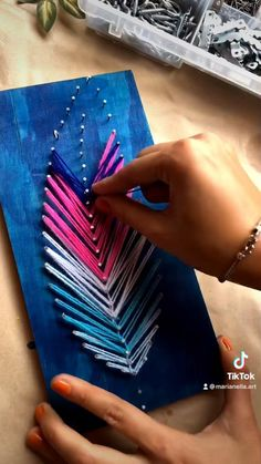 String Art, Photo And Video, Instagram, Feathers