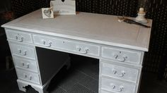 Desk painted in Frenchic Chalk & Mineral paint #hastobefrenchic