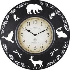 Fingerhut - FirsTime Lodge Collection Clock Wall Clock