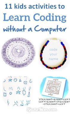 Can you learn coding without a computer? These 11 fun activities for kids teach them basic coding concepts off-screen. Check them out and see what fundamental coding concepts you can teach your child without a computer. Best Parenting Tips Learn Computer Coding, Learn Coding, Computer Programming, Computer Science, Kids Coding, Kids Computer, Coding For Children, Elementary Computer Lab, Programming For Kids