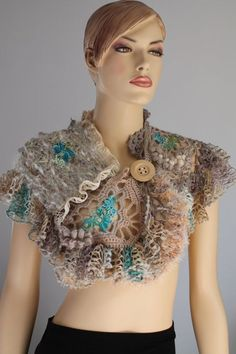 Hey, I found this really awesome Etsy listing at https://www.etsy.com/listing/123118497/freeform-crochet-capelet-shrug-wearable