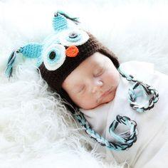 We got this hat for little man's newborn photos.