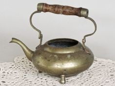 Vintage Indian Brass Teapot