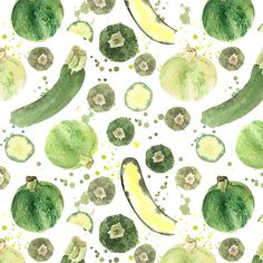 Zucchini yummy pattern design by  Giorgia Bressan