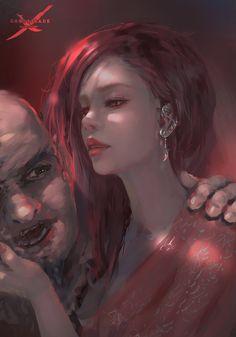Burning Rose by wlop.deviantart.com on @DeviantArt