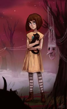 "fan art for game ""Fran Bow"" it's a bеutiful game **"