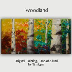 Art Painting Abstract Painting Original modern Autumn by elseart