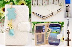 S3 Off White Qulited Leather Case Card Holder Wallet + Bear Fringed Dust Plug Charm for Samsung Galaxy S3 I9300 Ship From Hong Kong by R.P.C., http://www.amazon.com/gp/product/B00A8DDM5E/ref=cm_sw_r_pi_alp_ATlarb16RNY4X