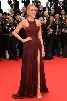 Blake Lively vestida de Gucci Première de los pies a la cabeza en la alfombra roja del Festival de Cannes 2014.