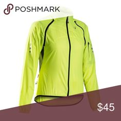 Bontrager Race Convertible Women's Windshield Worn once like new.Color neon green bontrager Jackets & Coats