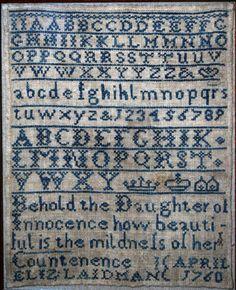 Sampler by Elizabeth Laidman, 1760