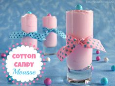 Cotton Candy Mousse from @katrinaskitchen -use any flavored syrup for shaved ice