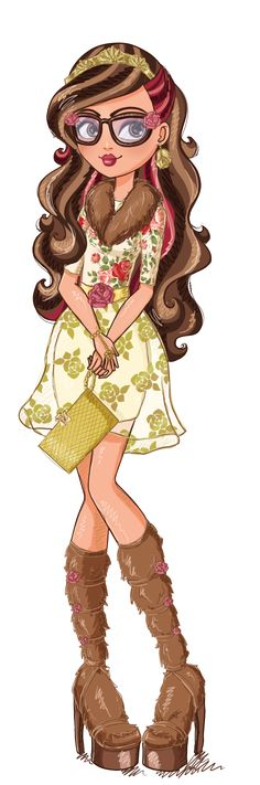 Ever After High Rosabella Beauty Artwork. I loooove her!!!! Can't wait till her doll comes out!!!