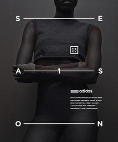 Typographic poster design for Adidas Originals x Kanye West Poster Design, Graphic Design Posters, Graphic Design Illustration, Graphic Design Inspiration, Typography Design, Layout Design, Design Art, Print Design, Series Poster