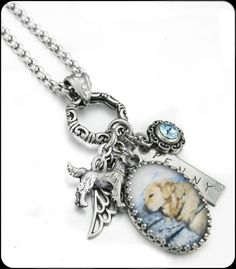 Dog Memorial Necklace Pet Memorial Necklace by BlackberryDesigns, $78.00