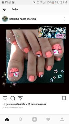 Uñas Pedicure Designs, Toe Nail Designs, Finger Nail Art, Toe Nail Art, Iris Nails, Manicure And Pedicure, Pedicures, Pretty Toe Nails, Nails 2018
