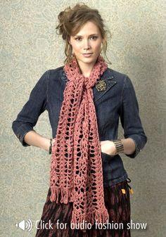 Waikiki Scarf by Marilyn Losee - Free Crochet Pattern - (naturallycaron)