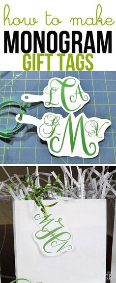How to Make Monogrammed Gift Tags with In My Own Style