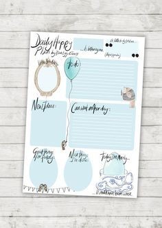 Daily Happy Plan  instant download daily planner by BlueEggsandTea, £2.00