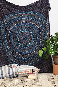 Blue-Mandala-Hippie-Tapestry-Wall-Hanging-Throw-Gypsy-Boho-Dorm-Decor-Tapestries