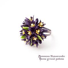 Ring Black Tulips Polymer Clay Flowers от SaisonRomantique