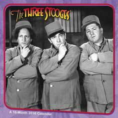 The Three Stooges Wall Calendar | $14.99 | These classic scenes from the original shorts are a must for Stooge lovers of all ages. The first Three Stooges short, Woman Haters, premiered in 1934. Spend the year enjoying Larry, Curly and Moe's laughable antics from original episodes with The Three Stooges Wall Calendar.