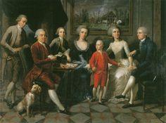 Austrian painter. File:Portrait der Familie Gumer-Menz (1786) - Martin Knoller (1725-1804).jpg
