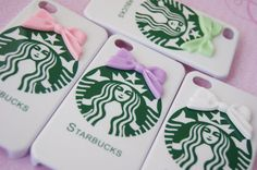 SALE: Starbucks Inspired Hard Iphone 4 4s with Bowtie Cell Phone Case