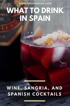 Spanish Drinks: Wine, Sangria and Spanish Cocktails to try in Spain - #spain #spanishdrinks