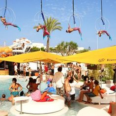 Ocean Beach Club, Ibiza. Stayed at the hotel, so had free entry. Great place 2 chill out & just relax xx