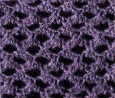 """""""L' Oeil de chat"""" Point tricot réversible pour écharpes, châles.... Les points ajourés au tricot - 1ère série - La Boutique du Tricot et des Loisirs Créatifs"""