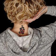 tatouage éphémère papillon de mauviette