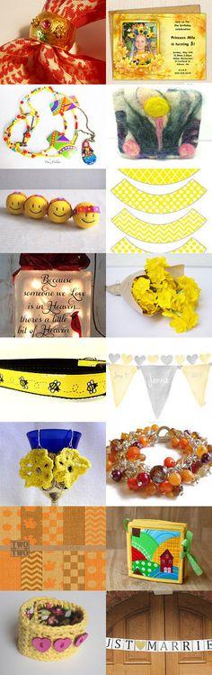 Yellow flowers by Galina Savushka on Etsy--Pinned+with+TreasuryPin.com