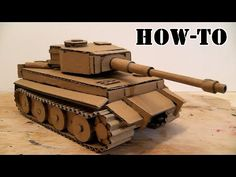 (3) How to make a Tank Tiger with Cardboard at Home on the hydraulic driveAmazing Toy DIY - YouTube
