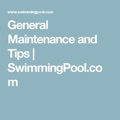 Accurate pool maintenance can do more than just prolong your fun in the sun. It also can extend the life of your pool's external parts and interior pool finish. Swimming Pool Maintenance, Pool Finishes, Exercise, Tips, Ejercicio, Excercise, Work Outs, Workout, Sport